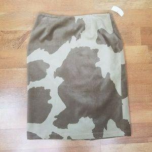 """Size 10  Cow Print animal print skirt 28"""""""